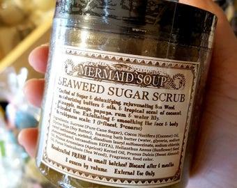 Mermaid Soup - Seaweed Sugar Scrub - Love Potion Magickal Perfumerie