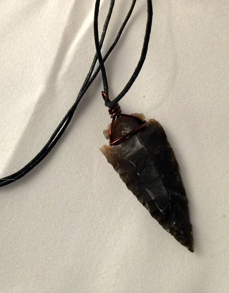 Flint arrowhead necklace copper wire wrapped arrowhead pendant gallery photo gallery photo gallery photo gallery photo gallery photo aloadofball Image collections
