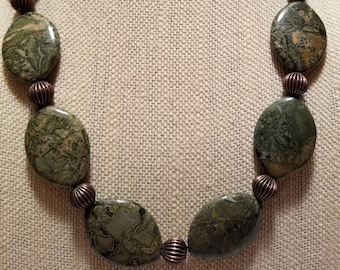 Walk In The Forest Jasper Necklace