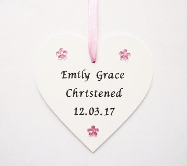 Personalised Baby's Christening gift plaque Baptism heart keepsake for boy girl Home, Furniture & DIY Other Celebrations & Occasions