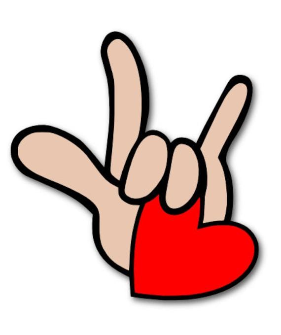 I Love You In ASL Sign Language SVG Digital File