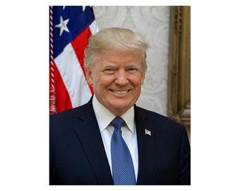 Donald J. Trump - 2017 - Vintage Historical Print - US President Photo