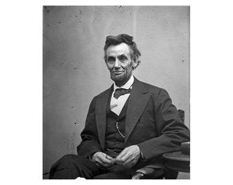 Abraham Lincoln - 1865 - Vintage Historical Print - US President Photo