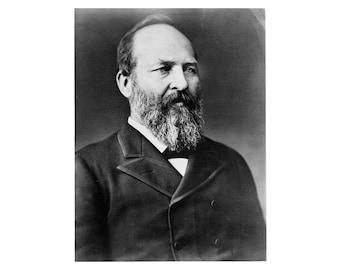 James A. Garfield - 1870 - Vintage Historical Print - US President Photo