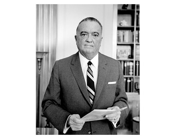 John Edgar Hoover - 1961 - Vintage Historical Print