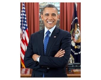 Barack Obama - 2012 - Vintage Historical Print - US President Photo