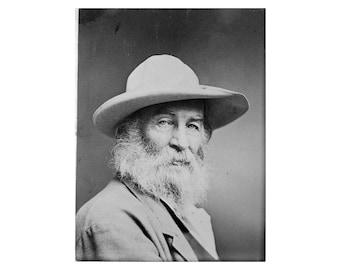 Walt Whitman - 1870 - Vintage Historical Print