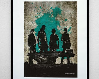 FF15 - The Power of the King. VideoGrunge Wall Art Print Poster.