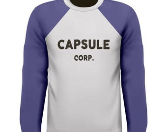 Capsule Corp Cosplay T-Shirt. High Quality Replica Tee. 1a5acfb9cee