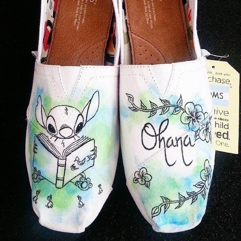 98113eec85a9 Disney Lilo And Stitch Ohana Custom Made Shoes