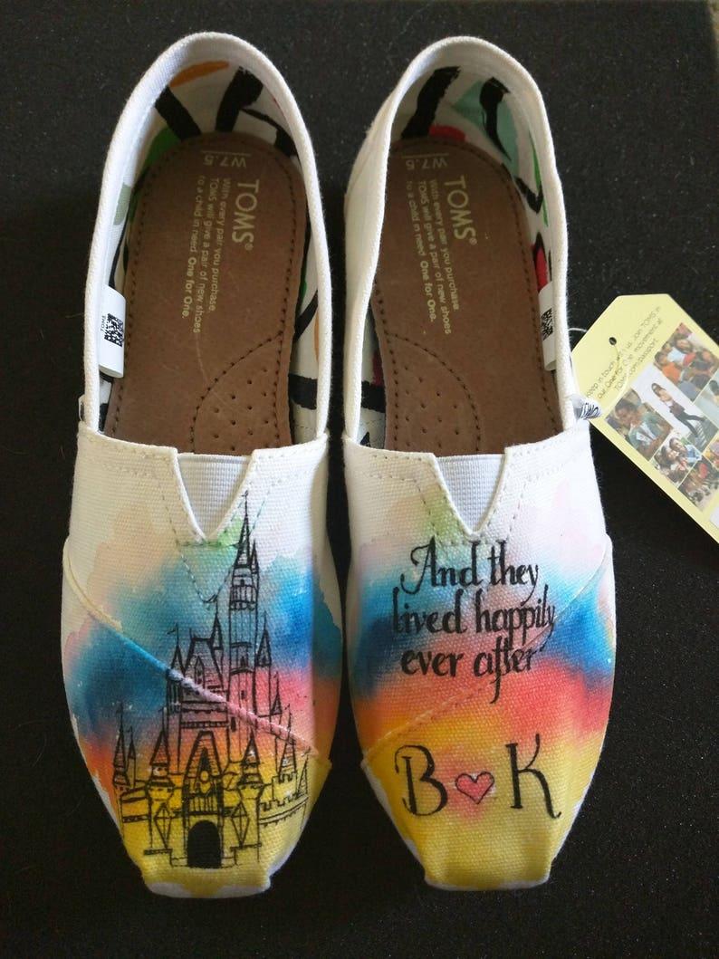 46927e796832 Disney Cinderella Castle Happily Ever After Custom Hand