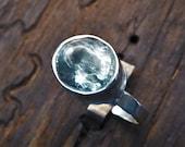 Lovely Aquamarine Ring-Pale Blue Gemstone- March Birthstone