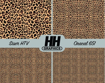 055cec458087 Leopard Print Vinyl * Printed Craft Vinyl * Oracal and Siser Heat Transfer  * Cheetah Pattern * Animal Print * Outdoor Vinyl * HTV