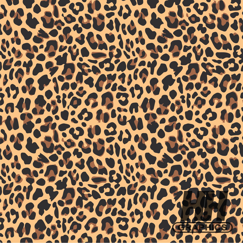 Leopard Print Vinyl Craft Vinyl Cheetah Pattern Animal Etsy