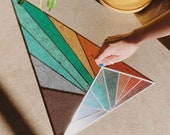 Debbie Bean Stained Glass Panel Etsy Pick Large Triangle Rainbow***MADE TO ORDER***