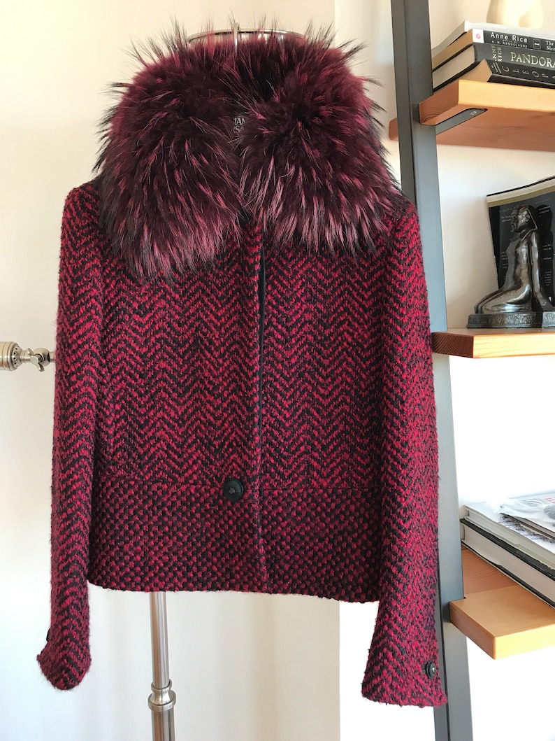a2ecdd5b76bc6 NOS Exceptional 90s VTG Gianni Versace Couture Red Wool Mohair