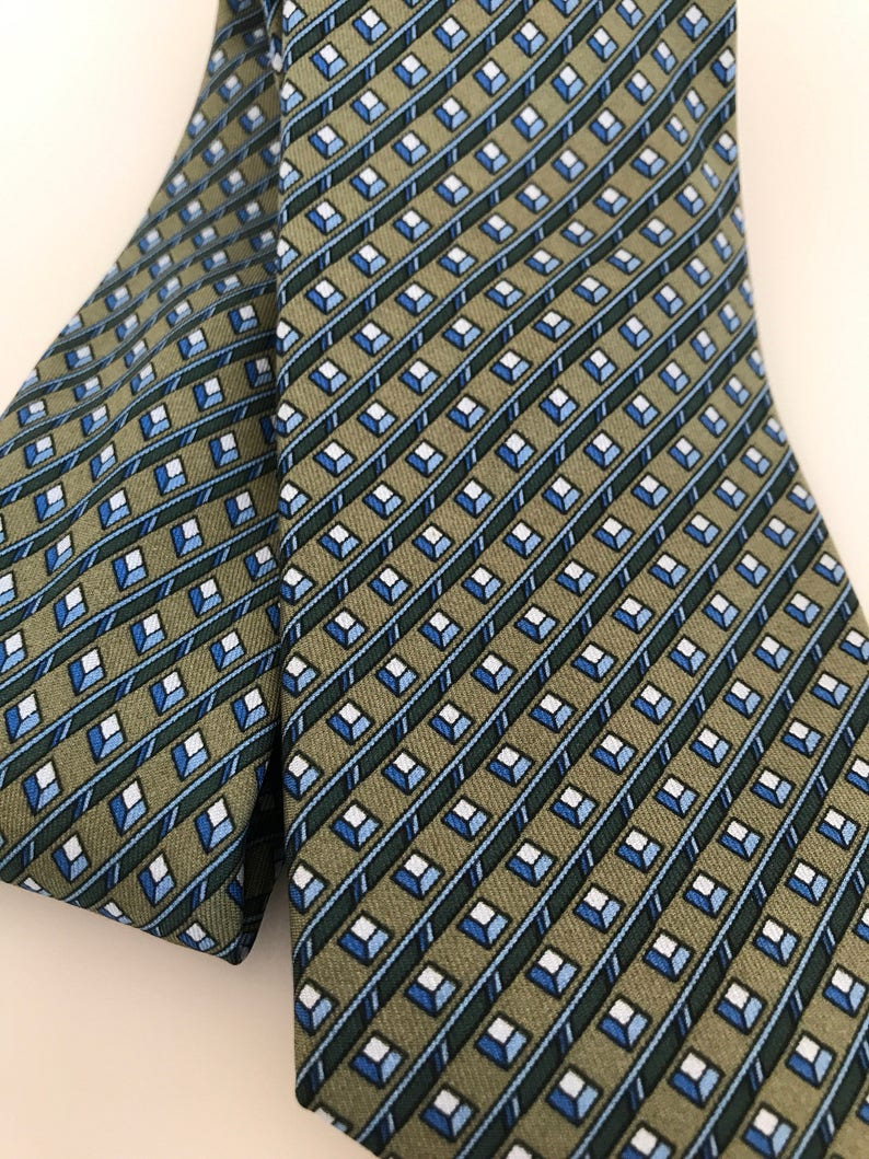 74cb13dc7bdc Excellent Cond Vintage Hermes Tie 918 HA Replaced Stay Tag | Etsy