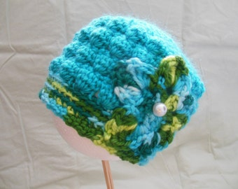 Adorable Baby Crochet Hat for that Special Little Someone, Size 3 mths.