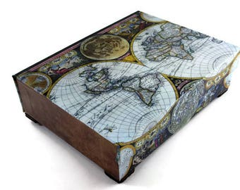 Desk organiser etsy desk organizer desk accessory old world map antique leather look office decor gumiabroncs Image collections
