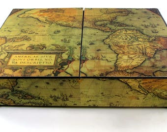 Map Storage Box Etsy - Antique map box