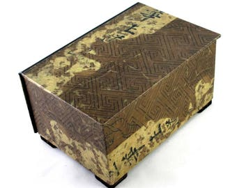 Decorative box vintage world map watch box tea chest decorative box in vintage asian design watch box tea chest home decor treasue chest memory box ready to ship gumiabroncs Image collections