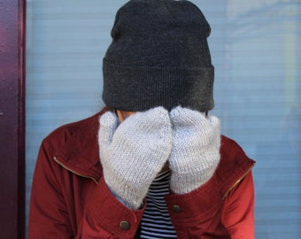 Cozy hand-knit mittens