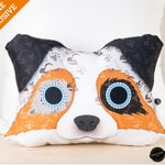 LIQUIDATION 50%off | Proceeds to Charity retail price will be Donated to AROO | Australian shepherd small cushion, decorative, pillow