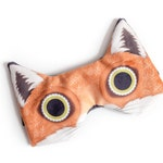 Red fox Velveteen ADJUSTABLE sleeping eye mask | Great for traveling, shift work, meditation and to relieve migraines.