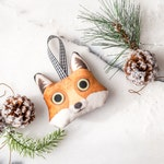 Fox Ornament | LIMITED QUANTITIES, Animal shaped plush ornament, Christmas Decoration, Xmas ornament, Holiday season