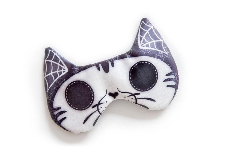 Cat skull sleep mask  ADJUSTABLE Great for traveling shift image 0