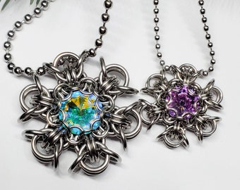 Pixie Snowflake Chain Maille Tutorial