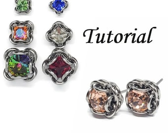 Quadrilliant Units & Studs Chainmaille Jewelry Making Tutorial ONLY