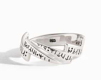 Lightning Ring Adjustable Sterling Silver Wrap Ring Modern Jewelry  Gift for Her - FRI004SSO