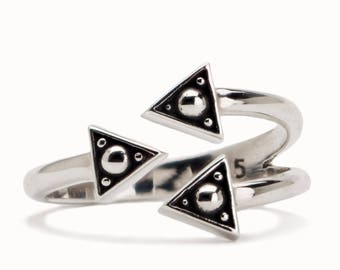 Stack Sterling Silver Ring Boho Wrap Ring Adjustable Ring Modern Jewelry  Gift for Her - FRI010