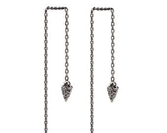 Threader Earrings Native Arrow Sterling Silver Chain Earrings Dangle Boho Jewelry  Gift for Her - CHN004