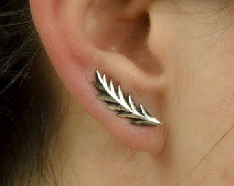 Sterling Silver Ear Cuff Shooting Star Ear Sweep Pin Earrings Boho Jewelry  Gift for Her - FES008