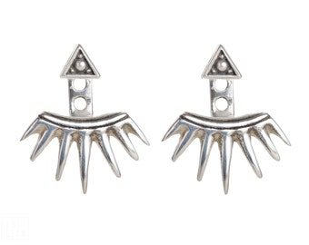 Sterling Silver Ear Jacket Earrings Sunshine Ear Cuff Earrings Boho Jewelry - JKT002SSO