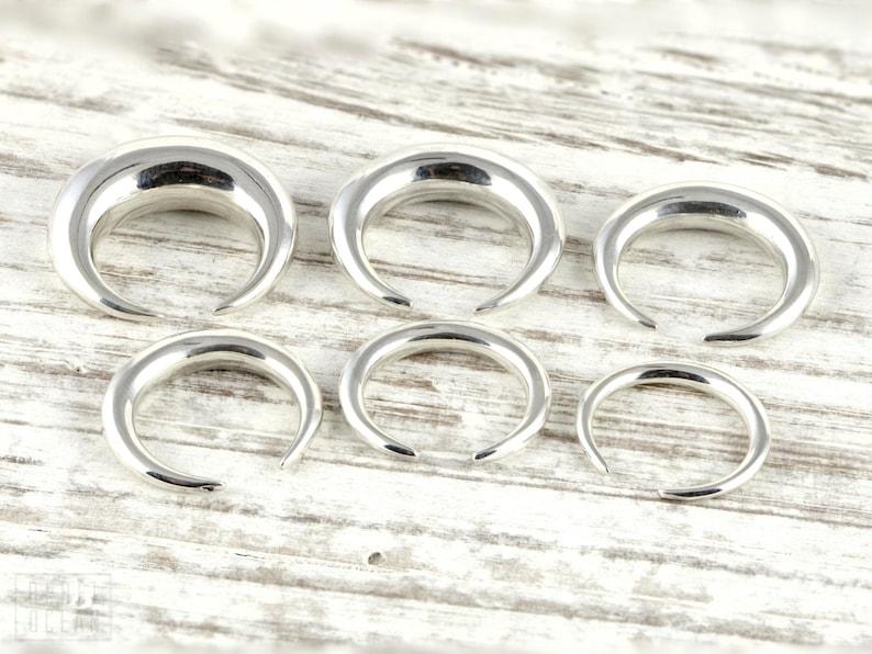 Pinchers Gauges earring in Sterling Silver Plugs Body Jewelry image 0