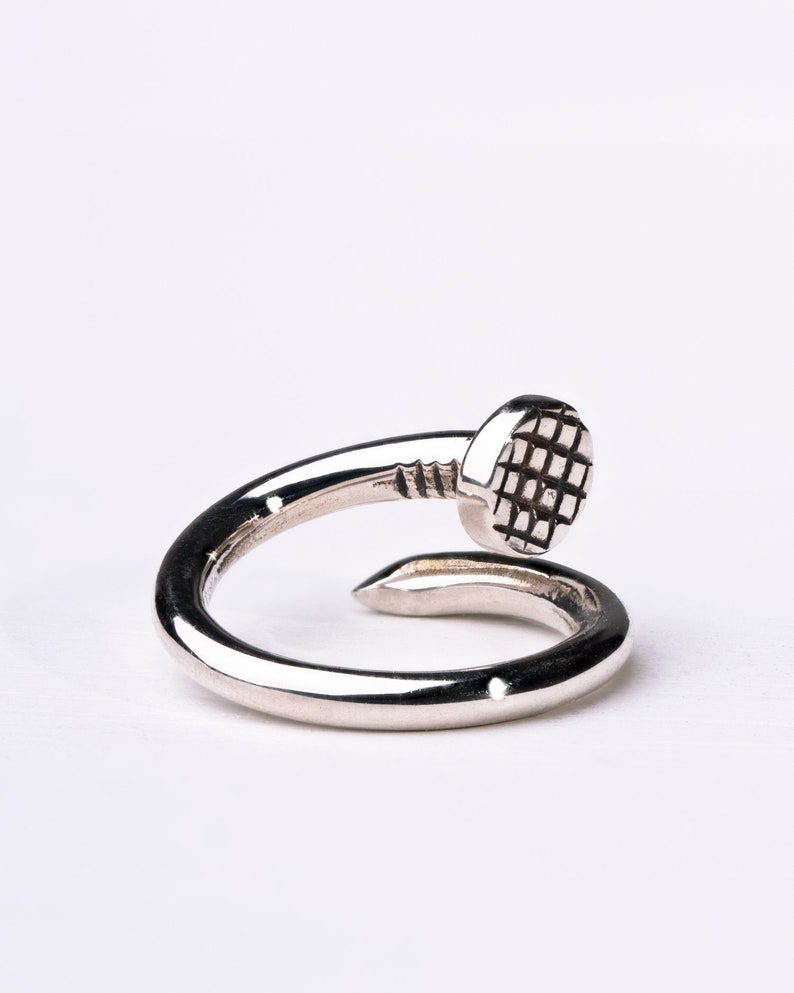 b454b67fd4496 Silver Nail Septum Ring Nose Ring Body Jewelry Sterling Silver Bohemian  Fashion Edgy Style 14g 16g - BSE045