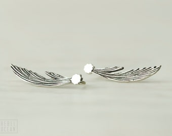 Sterling Silver Ear Cuff  Shooting Star Ear climber Pin Earrings Boho Jewelry  Gift for Her - FES015