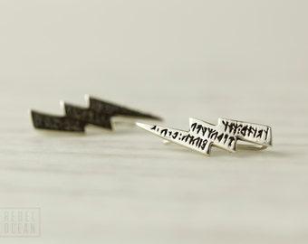 Sterling Silver Ear Cuff Moon Dots Ear Sweep Pin Earrings Boho Jewelry  Gift for Her - FES004SSO