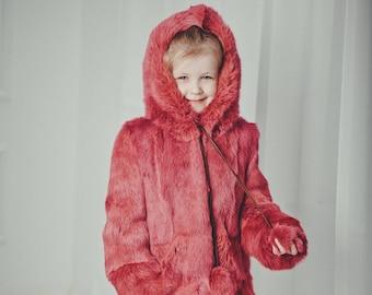 0119322cf Kids fur coat