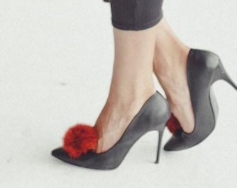 75db289f3dcba Fur shoe clips | Etsy