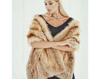 The New Winter Faux Fur Shawl Wedding Dress Fur Shawl Imitation Raccoon Fox Tail Boom Apparel Accessories