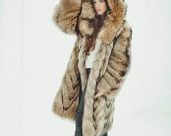 49b3262b427 Fur coat | Etsy