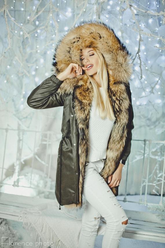 Echt Pelz Parkas Winter Jacke Frauen Große Mongolei Schafe