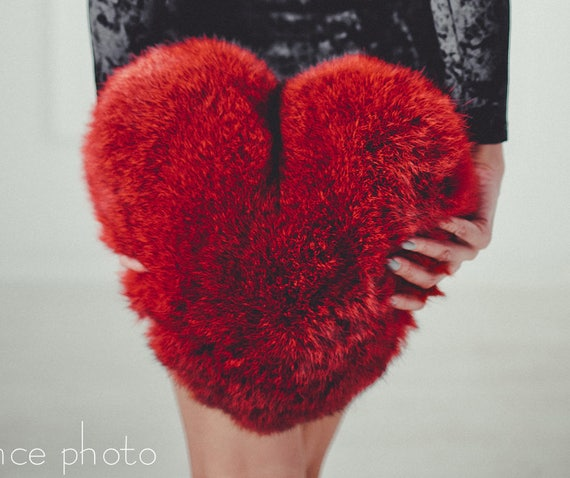 Pleasant Heart Shaped Fur Pillow Cover Cushion Cases Window Seat Cushions Gmtry Best Dining Table And Chair Ideas Images Gmtryco