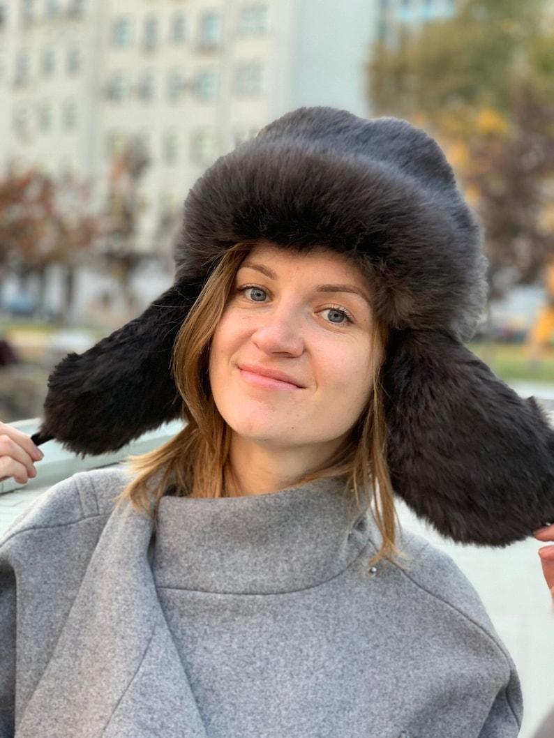 76f74a7c7d3 Real fur hat fur winter womens ushanka mens fur hood