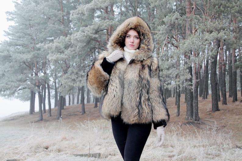 aa7e00ee5a Real raccoon Fur coat Fur jacket for women bomber jacket Long