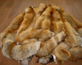Real fox fur pelt for game of thrones costume, medieval costume or fur viking clothing, barbarian skirt